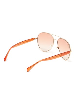 Figure View - Click To Enlarge - MATTHEW WILLIAMSON - Metal frame wire-core temples aviator sunglasses