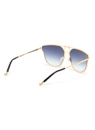 Figure View - Click To Enlarge - MATTHEW WILLIAMSON - 'D' metal frame gradient lenses sunglasses