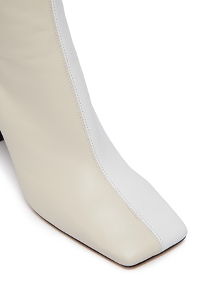 Detail View - Click To Enlarge - WANDLER - 'Isa' square toe two tone boots