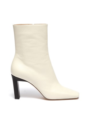 Main View - Click To Enlarge - WANDLER - 'Isa' square toe two tone boots