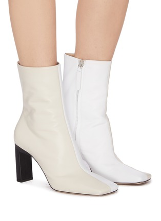 Figure View - Click To Enlarge - WANDLER - 'Isa' square toe two tone boots