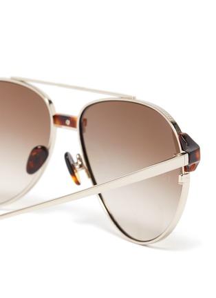 Detail View - Click To Enlarge - LINDA FARROW VINTAGE - Metal Aviator Frame Sunglasses