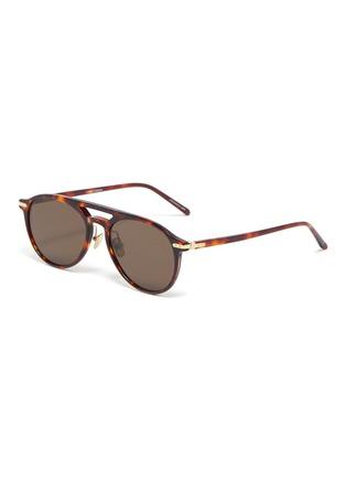 Main View - Click To Enlarge - LINDA FARROW - Tortoiseshell Acetate Frame Sunglasses