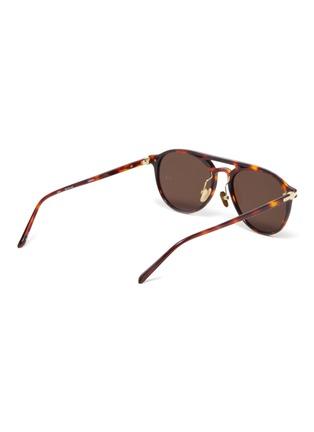 Figure View - Click To Enlarge - LINDA FARROW - Tortoiseshell Acetate Frame Sunglasses