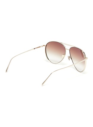 Figure View - Click To Enlarge - LINDA FARROW - Metal Aviator Frame Sunglasses