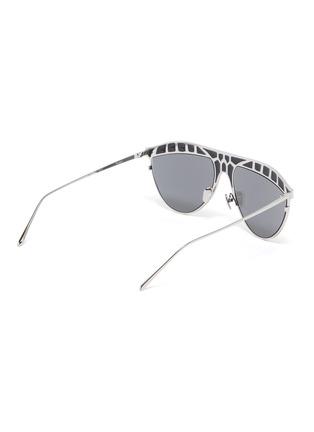 Figure View - Click To Enlarge - LINDA FARROW - 'Huston' Metal Frame Aviator Sunglasses