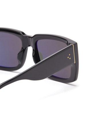 Detail View - Click To Enlarge - LINDA FARROW - Acetate square frame sunglasses
