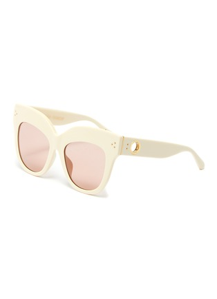 Main View - Click To Enlarge - LINDA FARROW VINTAGE - D Acetate frame cateye sunglasses