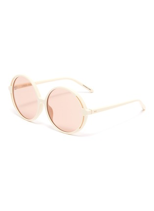 Main View - Click To Enlarge - LINDA FARROW VINTAGE - Acetate round frame sunglasses