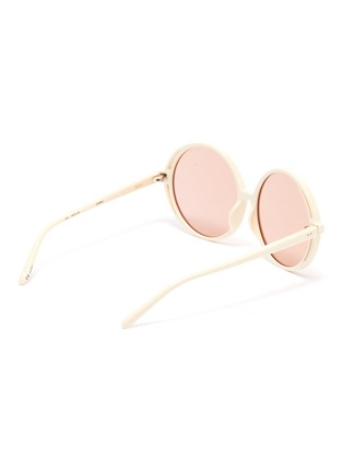Figure View - Click To Enlarge - LINDA FARROW VINTAGE - Acetate round frame sunglasses