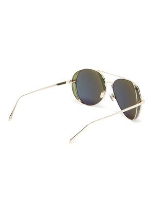 Figure View - Click To Enlarge - LINDA FARROW - Metal Aviator Frame Sunglasses