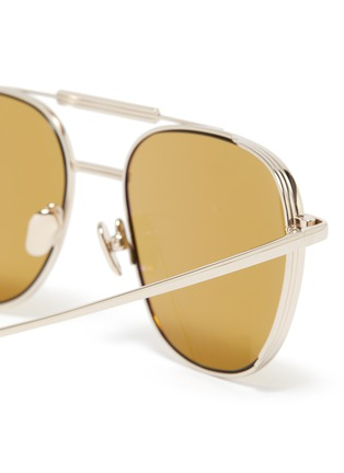 Detail View - Click To Enlarge - LINDA FARROW VINTAGE - Metal Square Frame Sunglasses