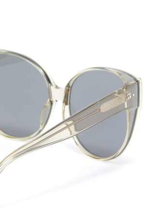 Detail View - Click To Enlarge - LINDA FARROW - Acetate Frame Cateye Sunglasses