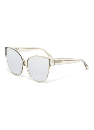 Main View - Click To Enlarge - LINDA FARROW - Acetate Frame Cateye Sunglasses