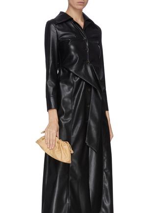 Figure View - Click To Enlarge - STUDIO AMELIA - '1.1' mini drawstring leather bag
