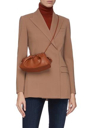 Front View - Click To Enlarge - STUDIO AMELIA - '1.1' mini drawstring leather bag