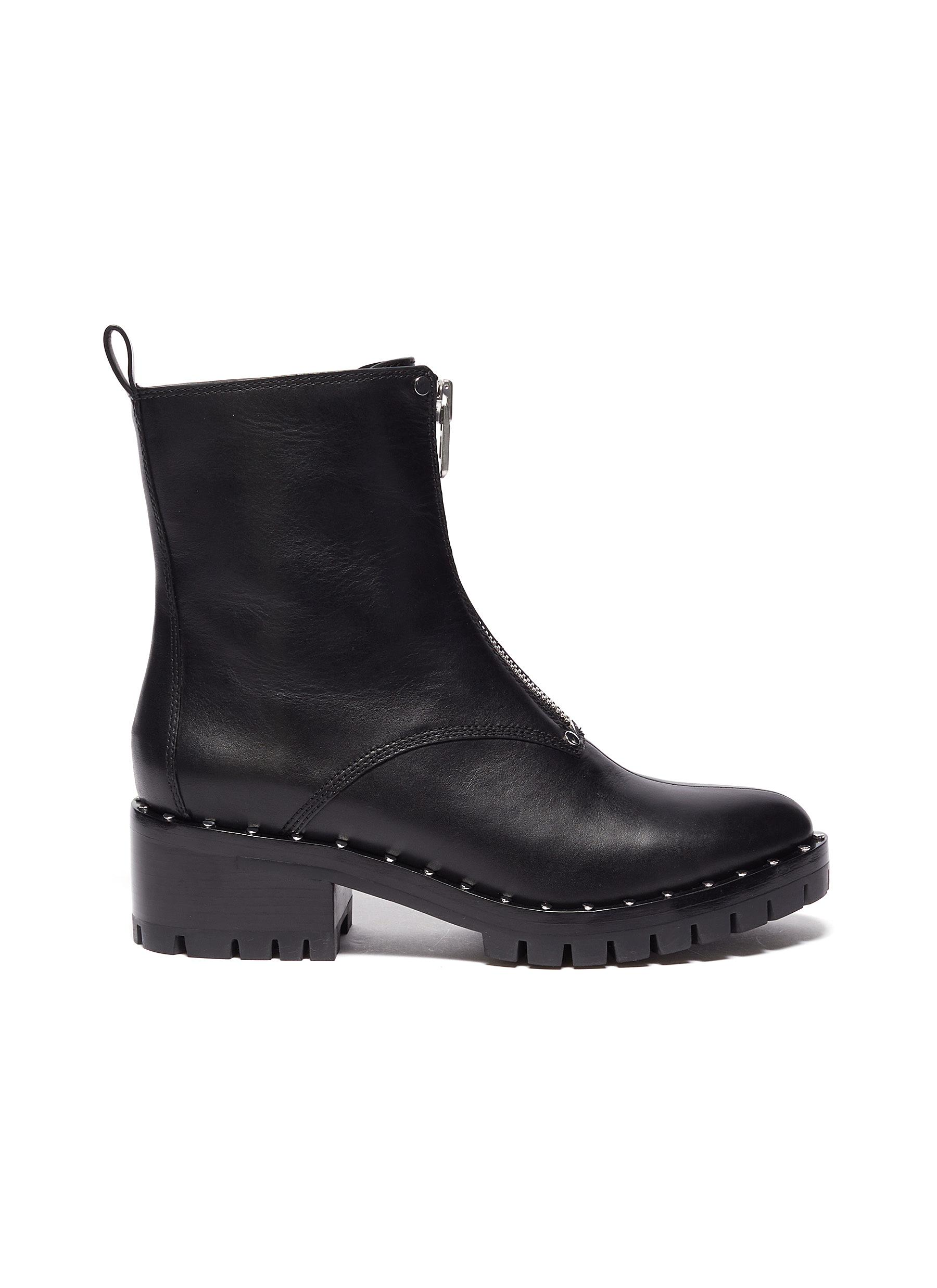 3.1 Phillip Lim Boots Stud embellished leather combat boots