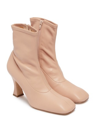 Detail View - Click To Enlarge - A.W.A.K.E. MODE - 'Priscilla' stretch leather ankle boots