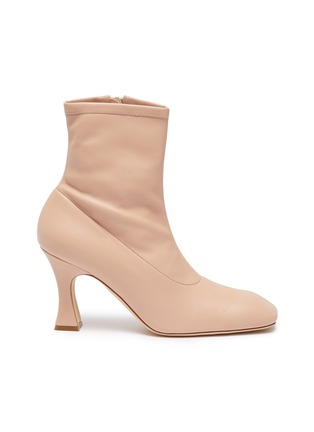 Main View - Click To Enlarge - A.W.A.K.E. MODE - 'Priscilla' stretch leather ankle boots