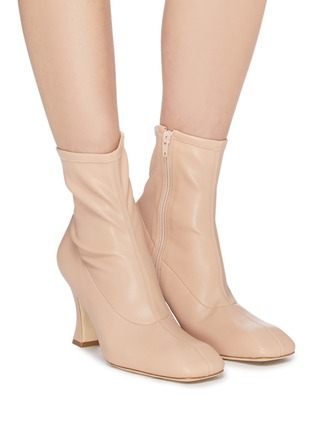 Figure View - Click To Enlarge - A.W.A.K.E. MODE - 'Priscilla' stretch leather ankle boots