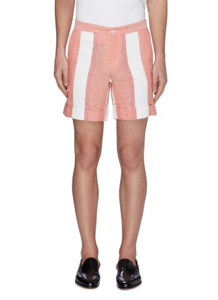 Main View - Click To Enlarge - CASABLANCA - Stripe panelled shorts