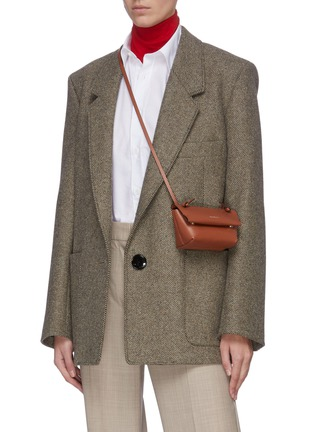 Figure View - Click To Enlarge - ACNE STUDIOS - Knot detail crossbody leather mini bag