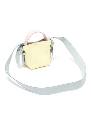 Detail View - Click To Enlarge - ACNE STUDIOS - Knot side micro leather shoulder bag