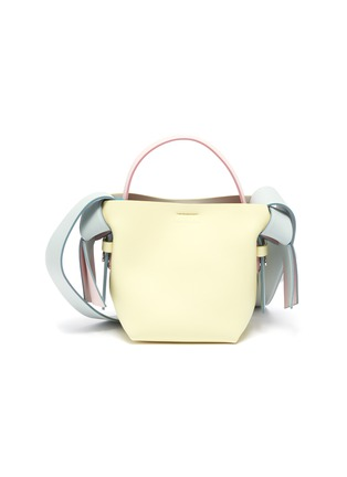 Main View - Click To Enlarge - ACNE STUDIOS - Knot side micro leather shoulder bag