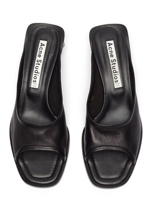 Detail View - Click To Enlarge - ACNE STUDIOS - Open-toe leather mules