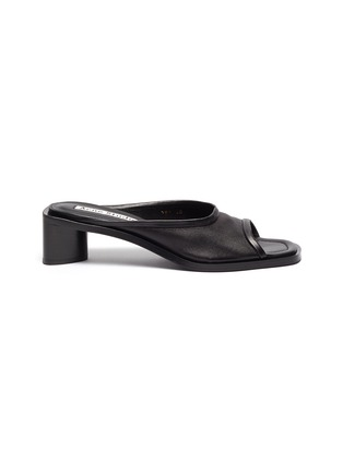 Main View - Click To Enlarge - ACNE STUDIOS - Open-toe leather mules