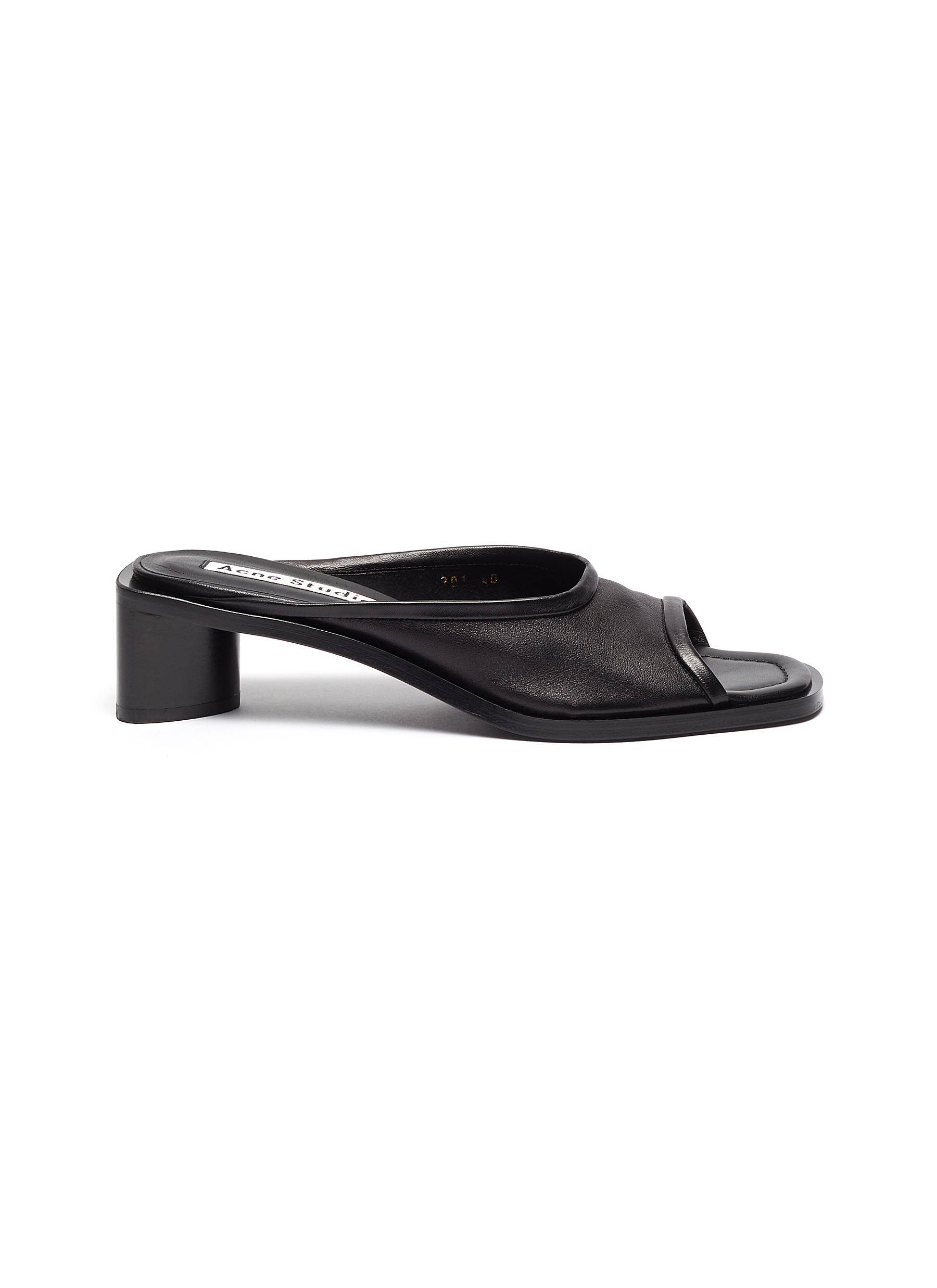 Acne Studios Mid Heels Open-toe leather mules