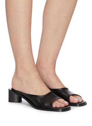 Figure View - Click To Enlarge - ACNE STUDIOS - Open-toe leather mules