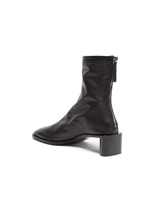 - ACNE STUDIOS - Block heel branded leather boots