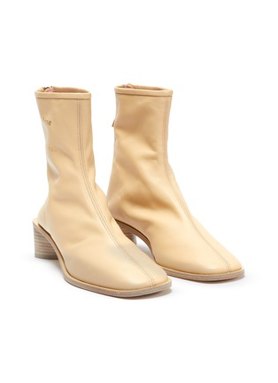 Detail View - Click To Enlarge - ACNE STUDIOS - Block heel branded leather boots
