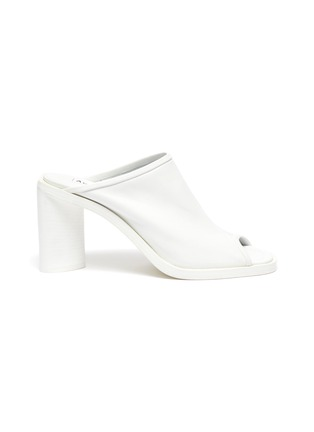 Main View - Click To Enlarge - ACNE STUDIOS - Open-toe block heel leather mules