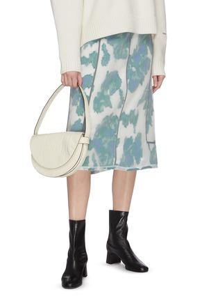 Figure View - Click To Enlarge - STAUD - 'Half moon' croc embossed leather shoulder bag