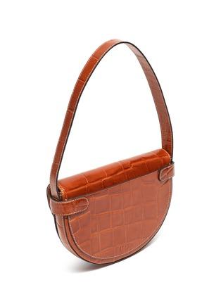 Detail View - Click To Enlarge - STAUD - 'Half moon' croc embossed leather shoulder bag