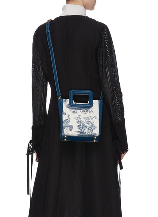 Back View - Click To Enlarge - STAUD - 'Shirley' mini painted canvas tote