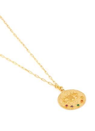 Detail View - Click To Enlarge - HERMINA ATHENS - 'Kressida' eye coin gemstone embellished necklace