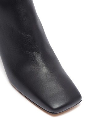 Detail View - Click To Enlarge - GRAY MATTERS - Marble heel leather ankle boots