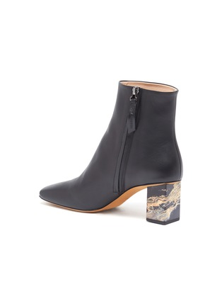 - GRAY MATTERS - Marble heel leather ankle boots