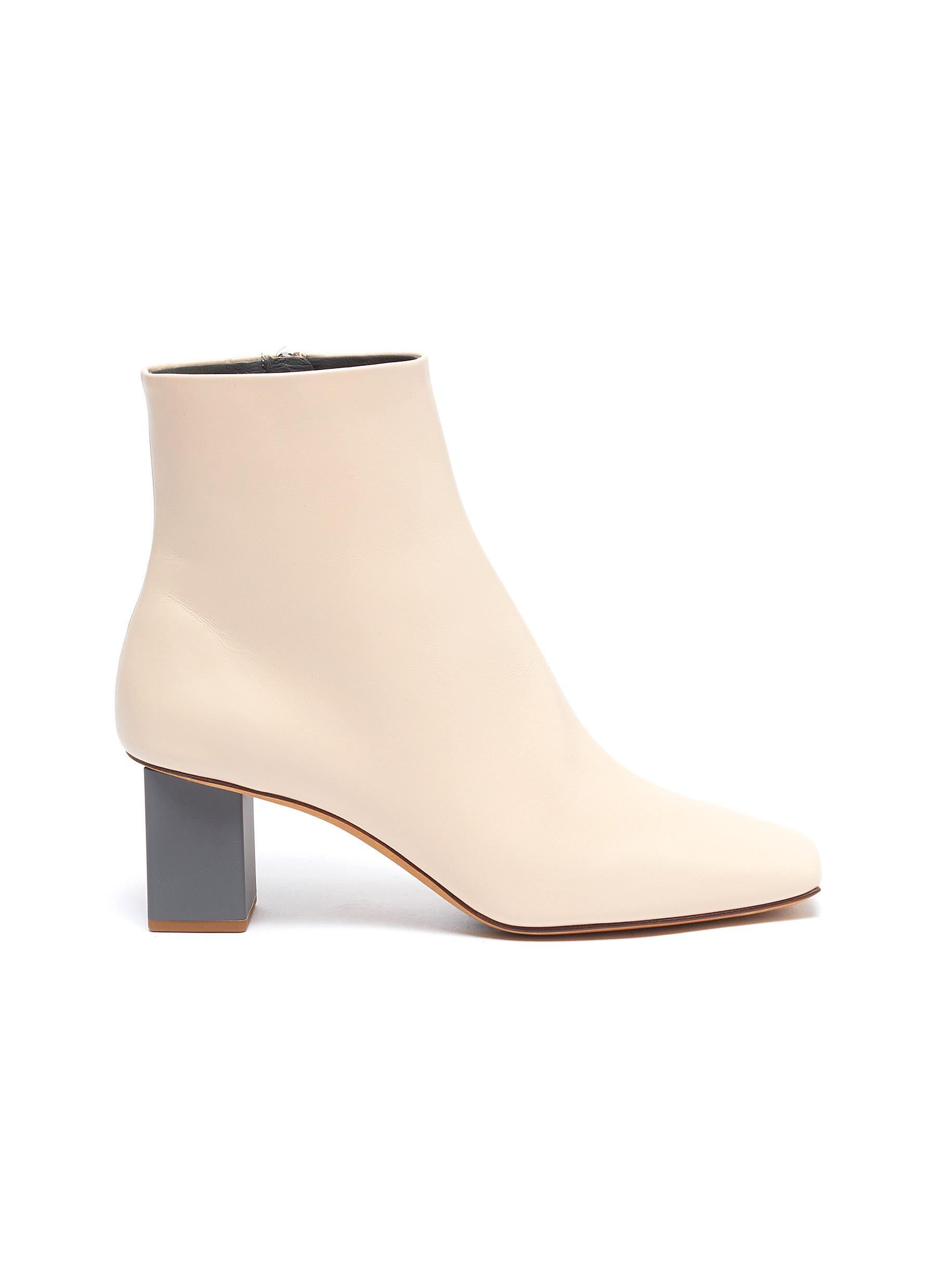 Gray Matters Boots Colourblock heel leather ankle boots