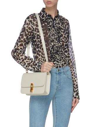 Figure View - Click To Enlarge - SAINT LAURENT - 'Carre' leather shoulder bag
