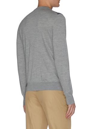 Back View - Click To Enlarge - BRIONI - Monogram crewneck knit sweatshirt