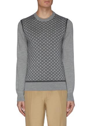 Main View - Click To Enlarge - BRIONI - Monogram crewneck knit sweatshirt