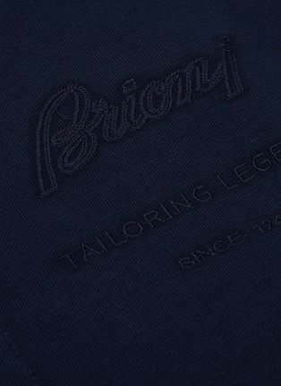 - BRIONI - Logo embroidered zip top