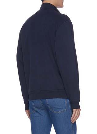 Back View - Click To Enlarge - BRIONI - Logo embroidered zip top