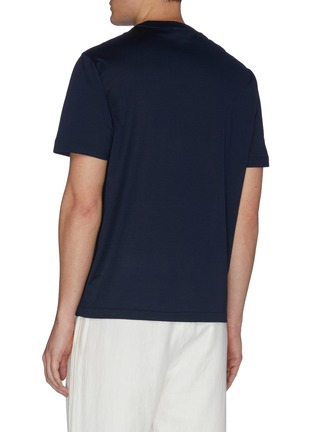 Back View - Click To Enlarge - BRIONI - Logo embroidered crewneck T-shirt