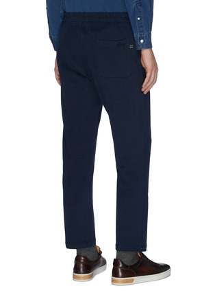 Back View - Click To Enlarge - BRIONI - Cotton jersey jogging pants