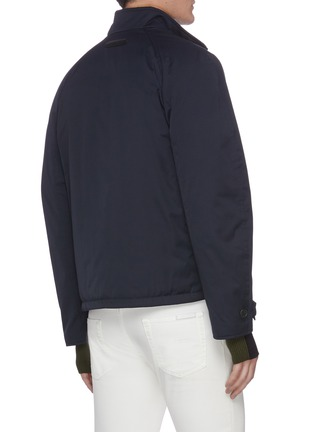 Back View - Click To Enlarge - BRIONI - Padded racer jacket